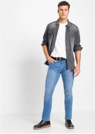 Slim Fit Stretch-Jeans aus Bio-Baumwolle, Straight, John Baner JEANSWEAR