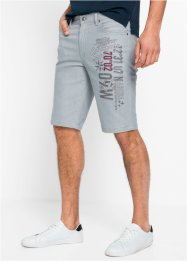 Regular Fit Stretch-Bermuda mit Druck, bpc selection