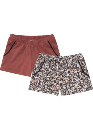 Shorts (2er Pack) aus Bio-Baumwolle, bpc bonprix collection