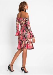 Off-Shoulder-Kleid mit Schlangenprint, BODYFLIRT boutique