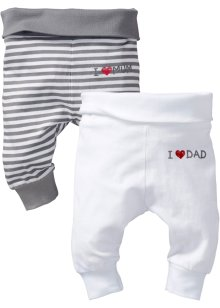 Baby-Shirthose (2er-Pack) Bio-Baumwolle, bpc bonprix collection