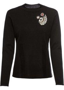 bonprix sweatshirt schwarz wollweiß