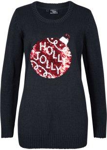 Sweatshirt schwarzwollweiß Damen bonprix.at