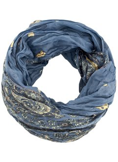 Loop-Schal mit Paisley, bpc bonprix collection, blau