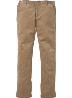 Stretchcord-Hose, Slim Fit Straight, bpc bonprix collection, mattcamel
