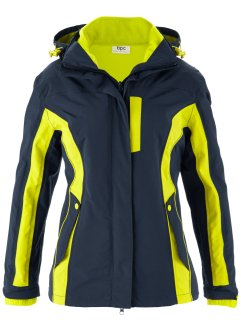 3in1-Funktions-Outdoorjacke, bpc bonprix collection, dunkelblau/limettengrün