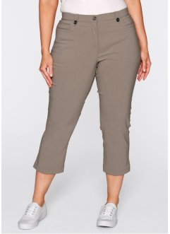 Bengalin-Hose in 3/4-Länge, bpc bonprix collection, taupe
