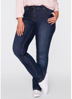 Gerade geschnittene Stretch-Jeans, bpc bonprix collection, dark denim