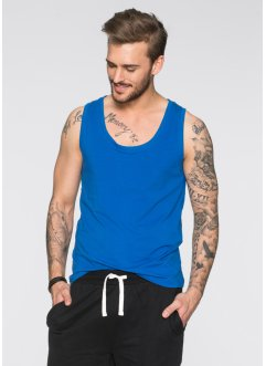 Tank-Top Slim Fit (2er-Pack), RAINBOW, dunkelblau+weiß