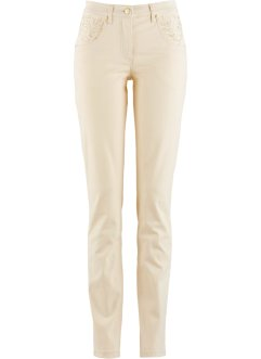 Stretchhose mit Applikation, bpc selection, kieselbeige