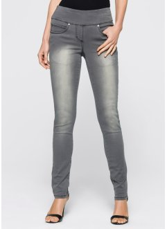 Megastretchjeans mit Bequembund, bpc selection, grey denim