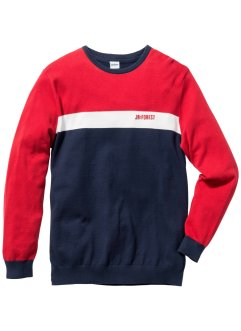 Pullover Regular Fit, John Baner JEANSWEAR, rot
