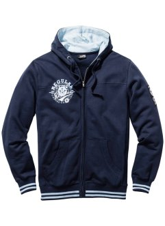 Sweatjacke mit Kapuze Regular Fit, bpc bonprix collection, dunkelblau