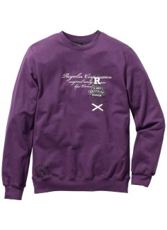 Sweatshirt Regular Fit, bpc bonprix collection, weinbeere