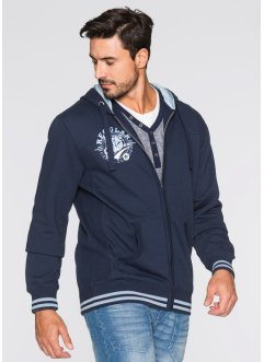 Sweatjacke mit Kapuze Regular Fit, bpc bonprix collection, anthrazit meliert