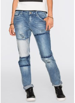 Boyfriend Jeans in Patchworkoptik, RAINBOW