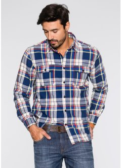 Flanell-Hemd Regular Fit, John Baner JEANSWEAR, royal kariert