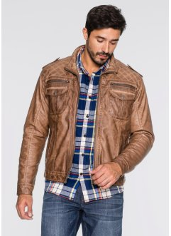 Lederimitat-Jacke Regular Fit, John Baner JEANSWEAR