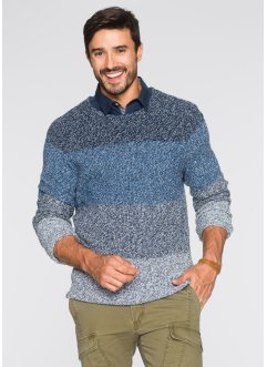 Pullover im Regular Fit, bpc bonprix collection, hellblau meliert