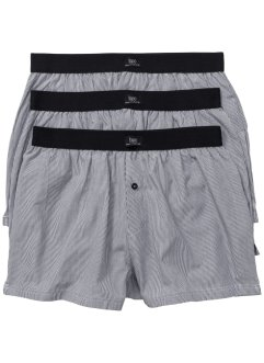 Gewebte Boxershorts (3er-Pack), bpc bonprix collection, gestreift