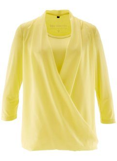 Shirtbluse in Wickeloptik, bpc selection, helllimone