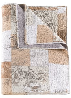 "Tagesdecke ""Patch Vintage"", bpc living, creme"