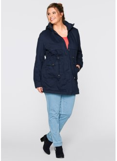 Parka mit Jerseyfutter, bpc bonprix collection, dunkelblau