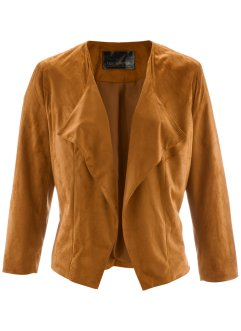 Kurzblazer aus Wildlederimitat, bpc selection, bronze