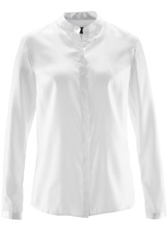 Satin-Bluse, bpc selection, wollweiß