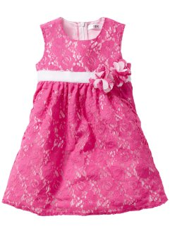 Spitzenkleid, bpc bonprix collection, pink/weiß