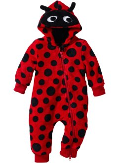 Baby-Fleece-Overall, bpc bonprix collection, rot/schwarz