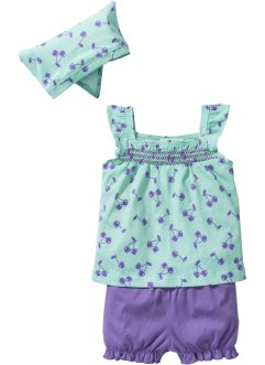 Baby Top + Shorts + Tuch (3-tlg.) Bio-Baumwolle, bpc bonprix collection
