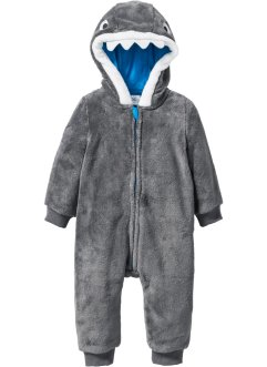 Baby Fleece Overall, bpc bonprix collection, grau