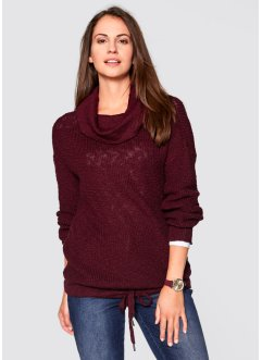 Pullover mit Kordelzug, bpc bonprix collection, ahornrot