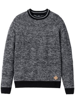Pullover Regular Fit, bpc bonprix collection, grau meliert