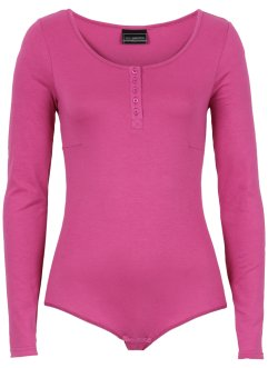 Langarm-Stretch-Body, bpc selection, mittelfuchsia