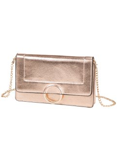 Clutch mit Metallring, bpc bonprix collection, roségold-metallic/gold