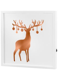 "LED-Bild ""Hirsch"", bpc living, grau/bronze"