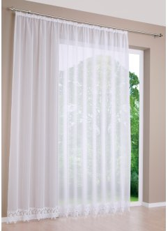 Transparente Gardine mit Häkelkante, bpc living bonprix collection