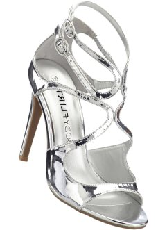 Sandalette, BODYFLIRT boutique, silber metallic