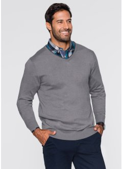 V-Pullover mit Kaschmir Regular Fit, bpc selection