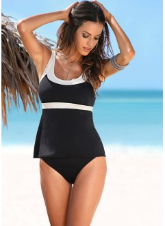 Tankini (2-tlg. Set), bpc selection, schwarz/beige