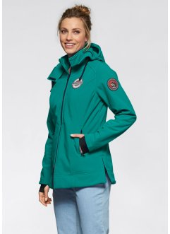 Stretch-Softshell-Outdoorjacke, bpc bonprix collection, dunkelsmaragd