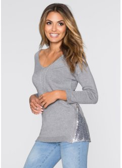 Pullover mit Paillettenapplikation, BODYFLIRT
