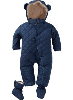 Baby Schneeoverall mit Füßlingen (2-tlg. Set), bpc bonprix collection