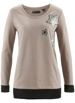 Sweatshirt, bpc selection, taupe meliert