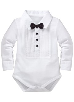 Baby Langarmbody Bio-Baumwolle, bpc bonprix collection, weiß