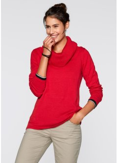 Langarm-Pullover, bpc bonprix collection, erdbeere