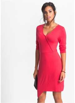 Jersey-Kleid in Wickeloptik, BODYFLIRT, rot