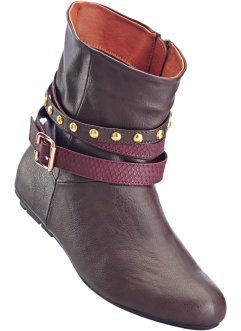 Stiefelette in 2 Weiten, bpc bonprix collection, ahornrot